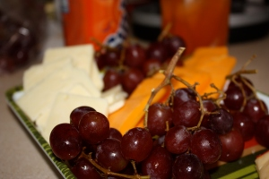 The fruit and cheese platter