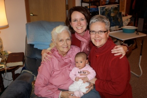 Great Grammie- Mom- Ava (Grandmother)-Daughter !!!