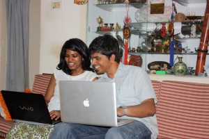 "A few weeks back, JP being a major GEEK with his ""twin,"" Divya"