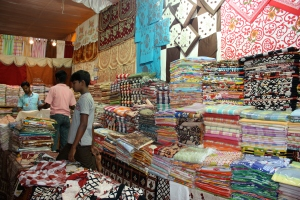 at the bazaar: bed sheets, table cloths, and the like